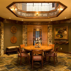Eclectic Dining Room by Vujovich Design Build, Inc.