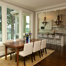 Transitional Dining Room by Jenni Leasia Design