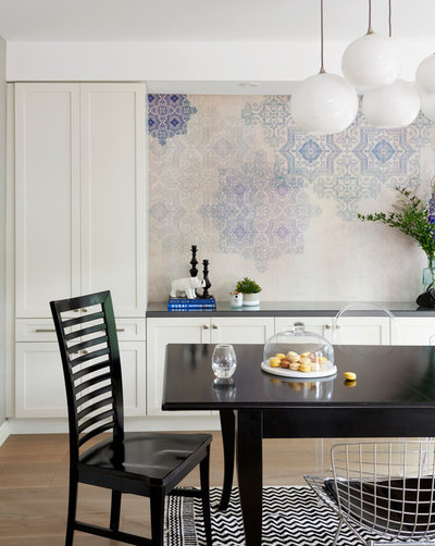 Transitional Dining Room by Soda Pop Design Inc.