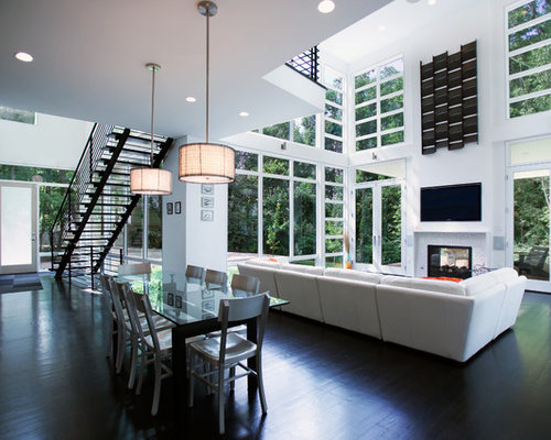 Double Height Living Room Home Design Ideas Pictures  : e261084200a156c97041 w500 h400 b0 p0 contemporary dining room from www.houzz.com size 500 x 400 jpeg 39kB