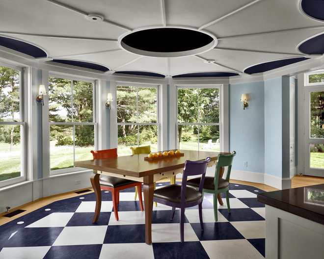 Eclectic Dining Room by Albert, Righter & Tittmann Architects, Inc.