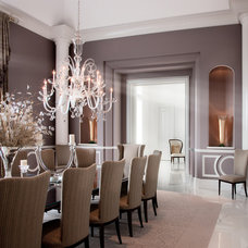 Contemporary Dining Room by Robert J Erdmann Design, LLC