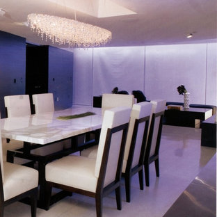 Photo of a contemporary dining room in Miami.