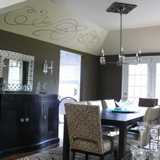 Eclectic Dining Room by Robin Hiken Interiors