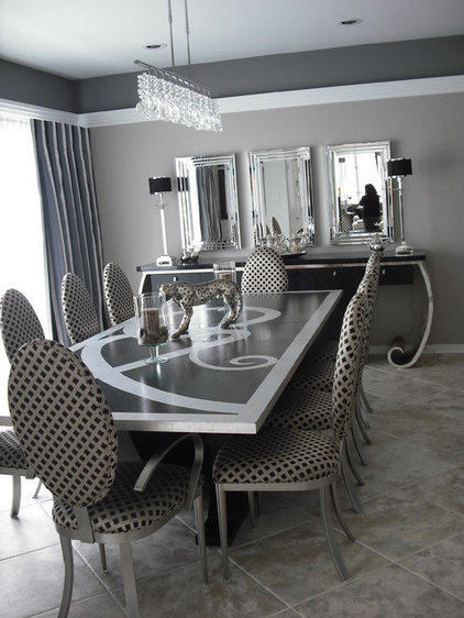 Contemporary Dining Room by Robin Hiken Interiors