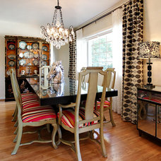 Eclectic Dining Room by Sara Ingrassia Interiors