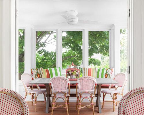 Sunroom window seat houzz for Sunroom breakfast nook