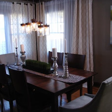 Contemporary Dining Room by Alice T. Chan Design, Inc.