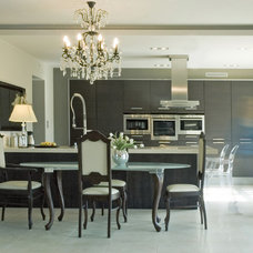 Eclectic Dining Room by studio A:W
