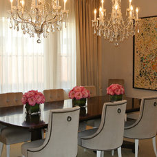 Contemporary Dining Room by Kevin Twitty- IBB Designer
