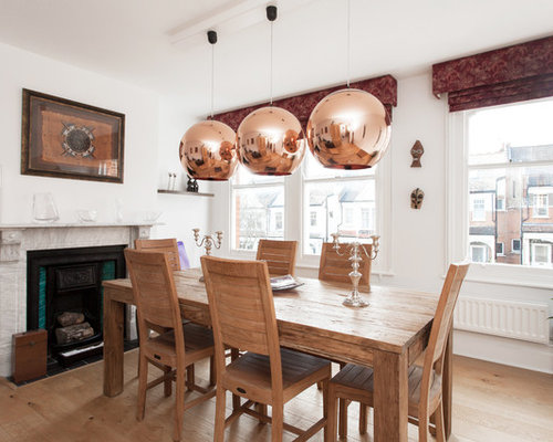 Dining Table Copper Pendants | Houzz