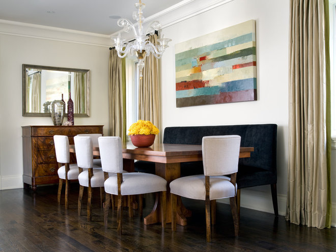 Contemporary Dining Room by Lisa Ferguson Interior Design