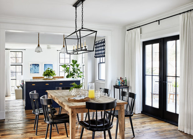 Coastal Dining Room by Convene Architecture