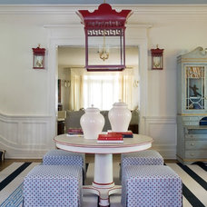 Eclectic Dining Room by Tobi Fairley Interior Design