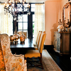 Eclectic Dining Room by Ryan O'Meara Interiors