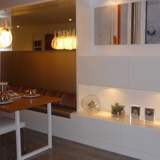 Contemporary Dining Room by Portico Design Group