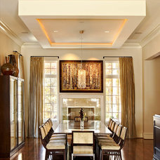 Contemporary Dining Room by Rufty Custom Built Homes and Remodeling