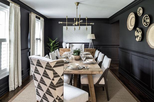 Transitional Dining Room by Salt Design Co
