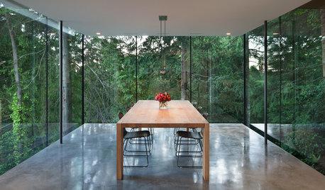 Houzz Канада: Кубистская архитектура в сочетании с природой