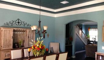 Rustic Blue Dining Room