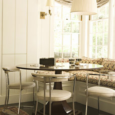 Transitional Dining Room by Tim Barber LTD Architecture & Interior Design