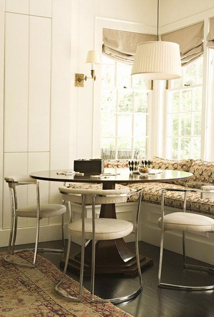 Transitional Dining Room by Tim Barber LTD Architecture & Interior Design