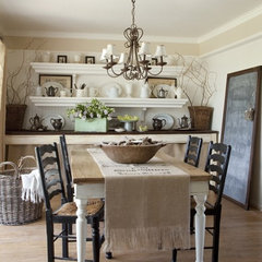 traditional dining room by The Old Painted Cottage