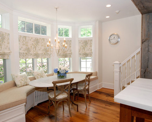 Bay window treatment ideas houzz - Ideas of window treatments for bay windows in dining room ...
