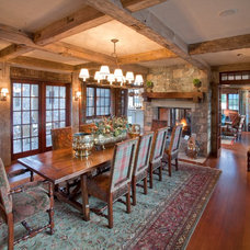 Rustic Dining Room by Big-D Signature