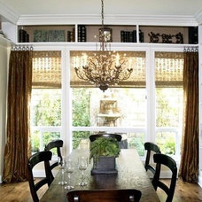 Eclectic Dining Room by M. Roy Interior Design