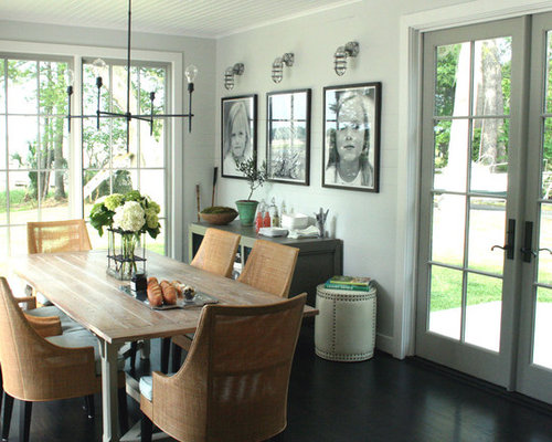 Awesome Rustic Dining Room Idea In Other With Gray Walls Great Ideas