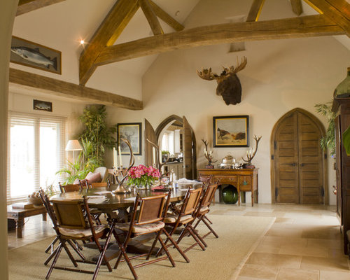 Rustic Dining Room Design Ideas Renovations Photos With