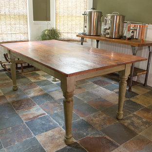 Rustic Farm Table with Hand Turned Windsor Style Legs