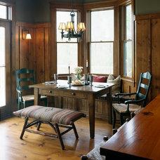 Rustic Dining Room by Curt Hofer & Associates