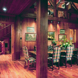 Photo of a country dining room in Atlanta.