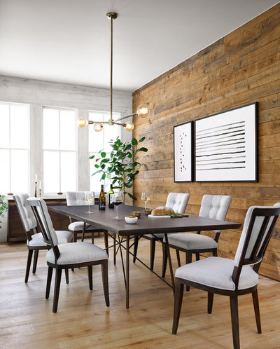 Transitional Dining Room by Zin Home
