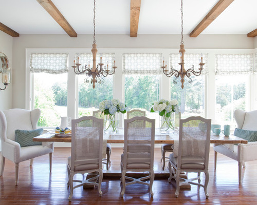 Two Chandeliers Over Dining Table Houzz