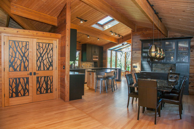 Rustic Dining Room by Maughan Design & Remodel