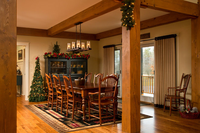 Traditional Dining Room by Teakwood Builders, Inc.
