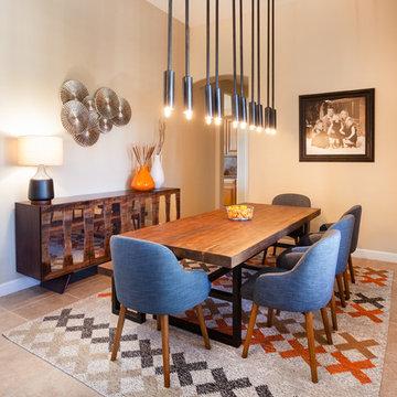 Rustic, Retro Dining Room