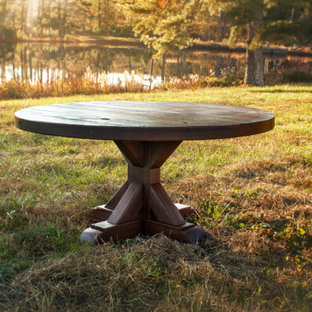 Rustic Trades Pedestal Dining Table