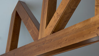 Rustic Trusses and Stairs