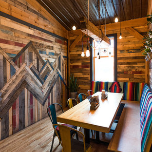 Mid-sized mountain style dining room photo in Burlington