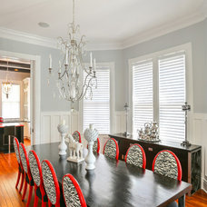 Transitional Dining Room by Advanced Window Fashions