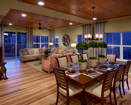 Living dining room combo home design ideas renovations photos for Living and dining room combo