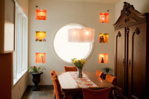 Eclectic Dining Room by Michele Plachter Design