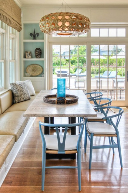 Beach Style Dining Room by Willey Design LLC