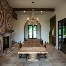 Mediterranean Dining Room by P. Shea Design