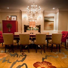 eclectic dining room by Lucid Interior Design Inc.