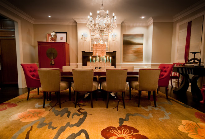 Traditional Dining Room by Lucid Interior Design Inc.
